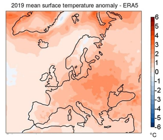 Last year was Europe's hottest year on record (The Copernicus Climate Change Services)