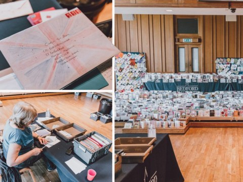 Sorting office set up for Captain Tom Moore's 90,000 birthday cards