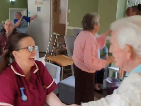 Dancing care home residents tell family 'don't worry be happy' in uplifting video