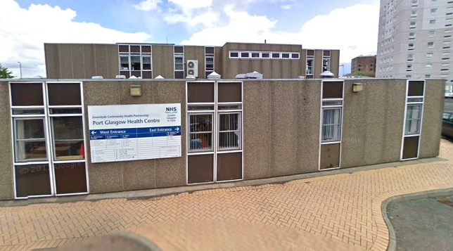Port Glasgow Health Centre, One drive-thru centre is only swabbing 'four people a day' picture: google maps METROGRAB
