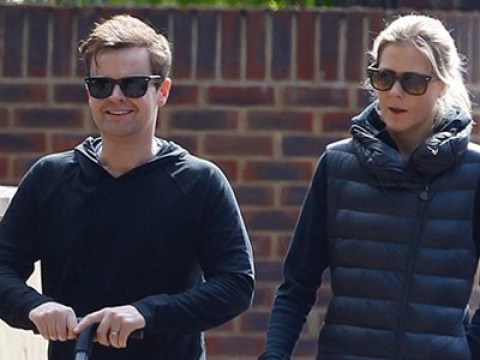 Declan Donnelly and Ali Astall take their daughter Isla for daily stroll amid lockdown