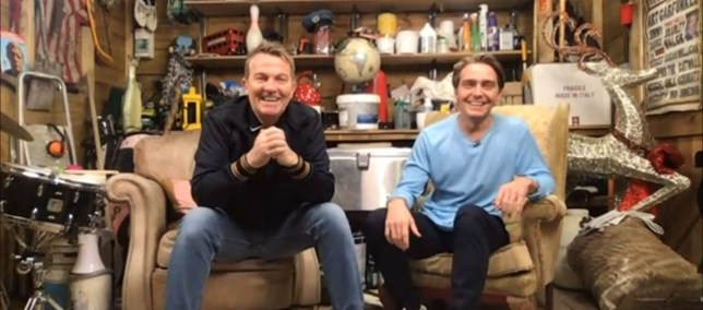 Mandatory Credit: Photo by REX (10625838bk) Bradley Walsh and Son 'This Morning' TV show, London, UK - 27 Apr 2020
