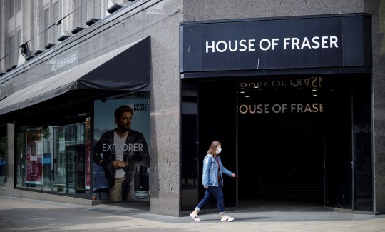 A closed House of Fraser store