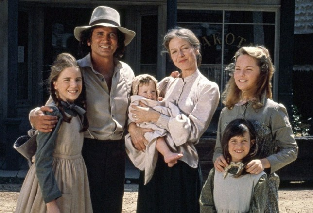 Editorial use only. No book cover usage. Mandatory Credit: Photo by Nbc-Tv/Kobal/REX (5884975aj) Michael Landon, Missy Francis, Melissa Gilbert, Melissa Sue Anderson Little House On The Prairie - 1974-1983 NBC-TV USA TV Portrait
