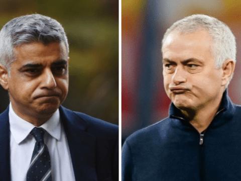 London Mayor Sadiq Khan slams Jose Mourinho after Tottenham manager breaks lockdown rules