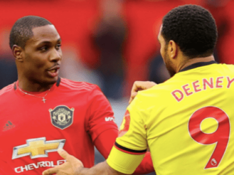 Odion Ighalo plays down his bust-up with Troy Deeney during Watford's defeat at Manchester United