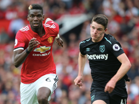 Declan Rice defends Manchester United star Paul Pogba with classy message about Manchester United midfielder