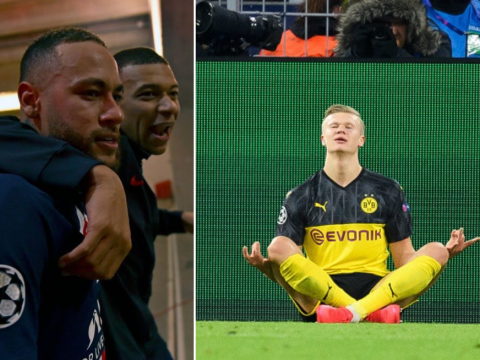 Neymar planned celebration mocking Erling Haaland before PSG comeback against Borussia Dortmund