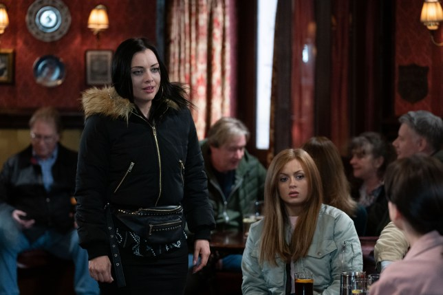 Whitney Dean and Tiffany Butcher-Baker in EastEnders
