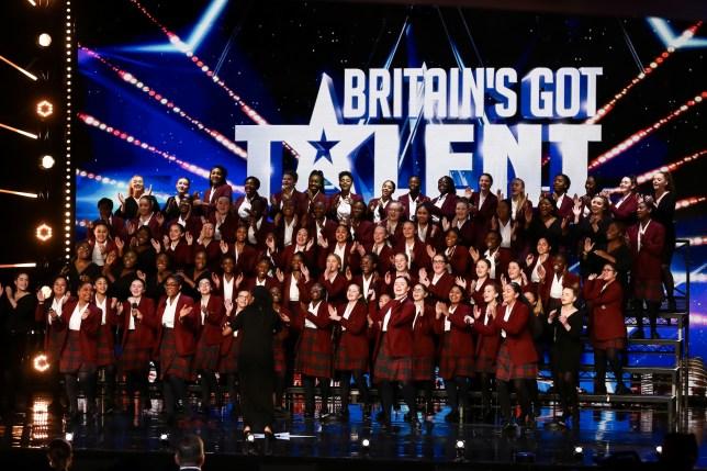 St Anne's Gospel Choir perform on Britain's Got Talent.