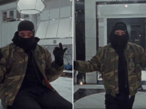 Drake takes quarantine seriously as he dances around mega-mansion in Tootsie Slide video