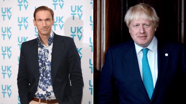 Dr Christian Jessen and Boris Johnson