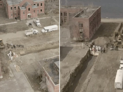 Chilling video appears to show NYC prisoners burying bodies amid coronavirus outbreak