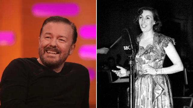 Ricky Gervais and Dame Vera Lynn