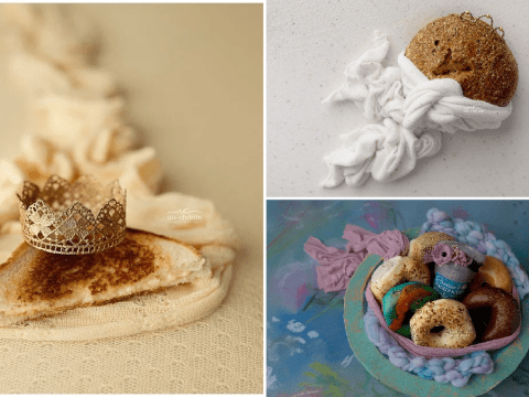 Newborn photographer replaces babies with favourite takeaways during lockdown