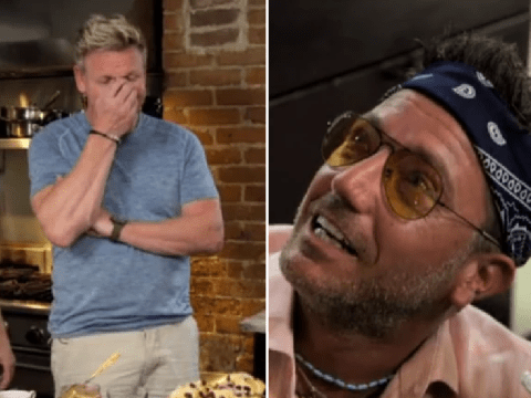Gordon Ramsay judges Gino D'Acampo as he gets high in chaotic Roadtrip scene