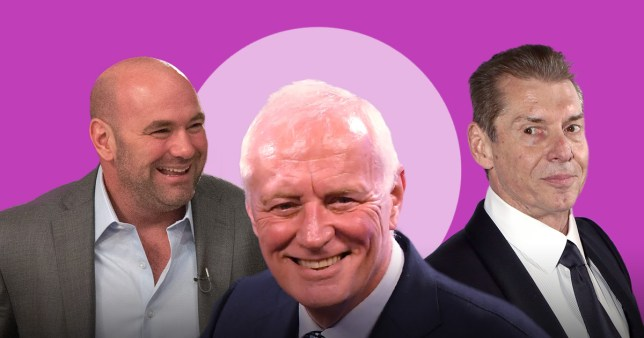 Dana White, Barry Hearn and Vince McMahon