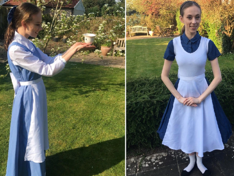 Woman dresses up as a different Disney character everyday using clothes she already has