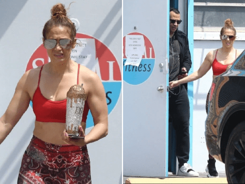 Jennifer Lopez and Alex Rodriguez squeeze in final gym workout before Florida goes into lockdown