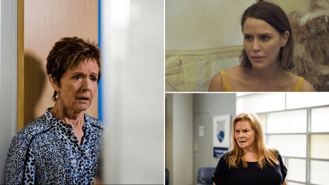 Susan Kennedy, Elly Conway and Sheila Canning in Neighbours.
