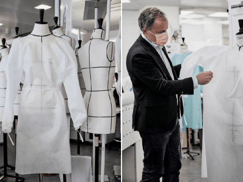 Louis Vuitton reopens workshop to make PPE masks and gowns