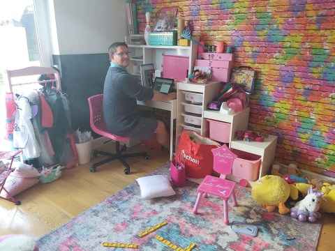 Where I Work: Kevin, an office design specialist working from home in lockdown