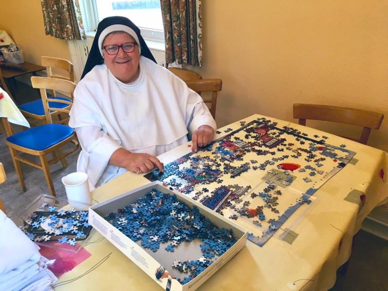 Jigsaw puzzles have been popular at the convent during the coronavirus (Picture: Dominican Sisters of St Joseph)