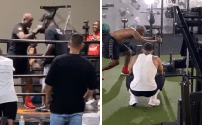 Boxing fans fear for Evander Holyfield against Mike Tyson after behind-the-scenes training footage leaks