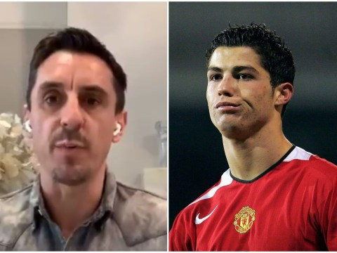 Gary Neville reveals he complained about Cristiano Ronaldo to a Manchester United coach