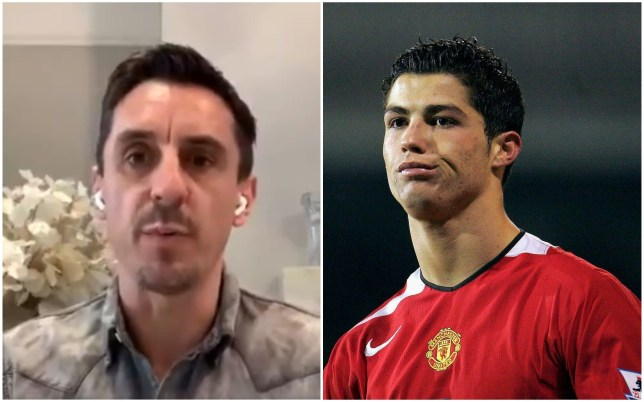 Gary Neville has spoken about the change in Cristiano Ronaldo at Manchester United