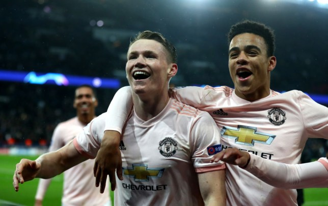 Manchester United stars Scott McTominay and Mason Greenwood