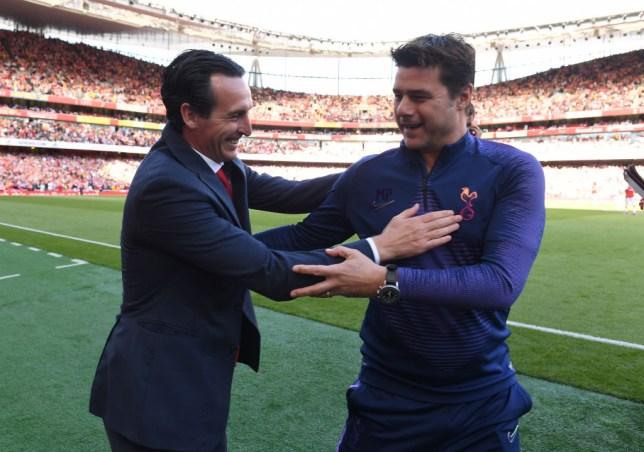 Unai Emery and Mauricio Pochettino