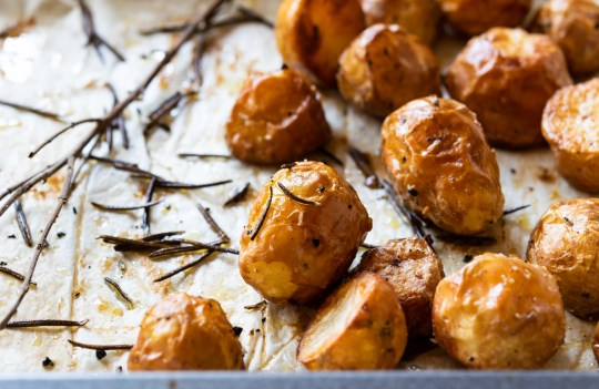 Roasted potatoes.