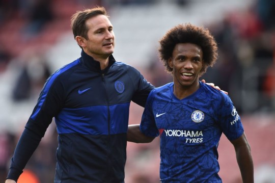 Frank Lampard is keen for Willian to remain at Chelsea