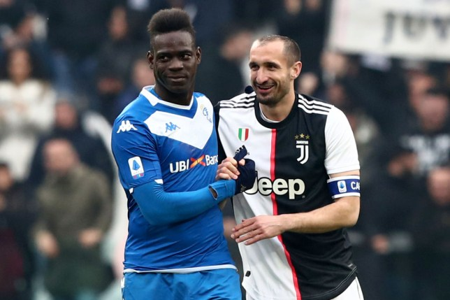 Giorgio Chiellini  says he was 'let down' by Mario Balotelli