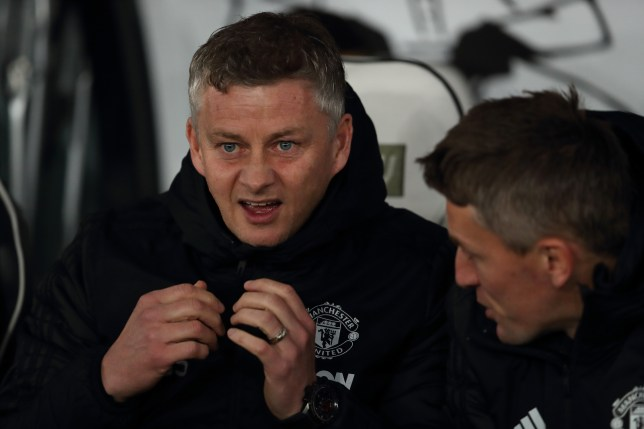 Ole Gunnar Solskjaer looks on during Manchester United FA Cup clash with Derby County