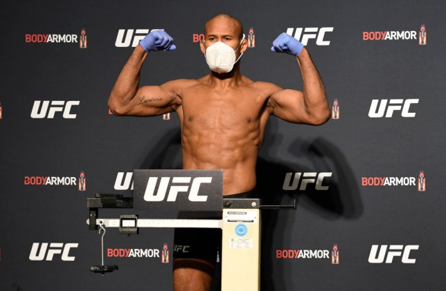 Ronaldo Souza weighs in for UFC fight