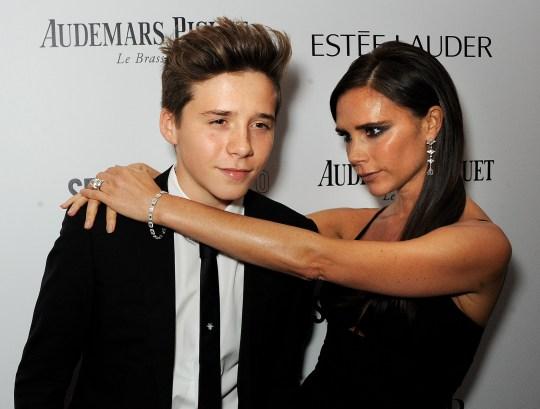 Victoria and Brooklyn Beckham