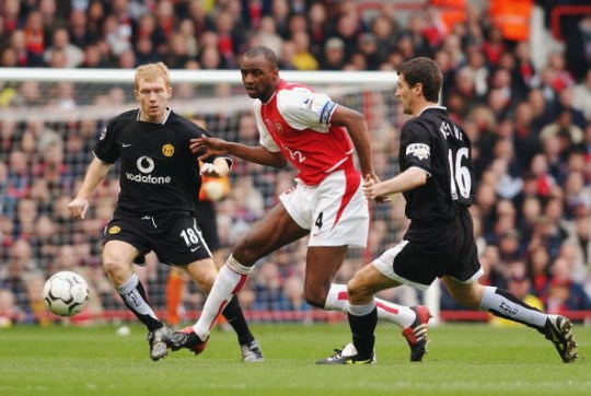 Patrick Vieira during Arsenal v Manchester United