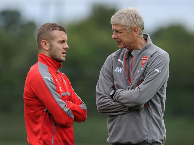 Jack Wilshere and Arsene Wenger at Arsenal