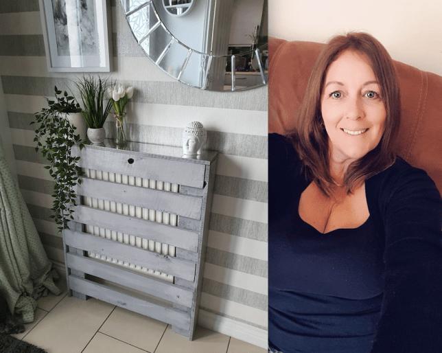 Hellan Pearce and her diy radiator covers