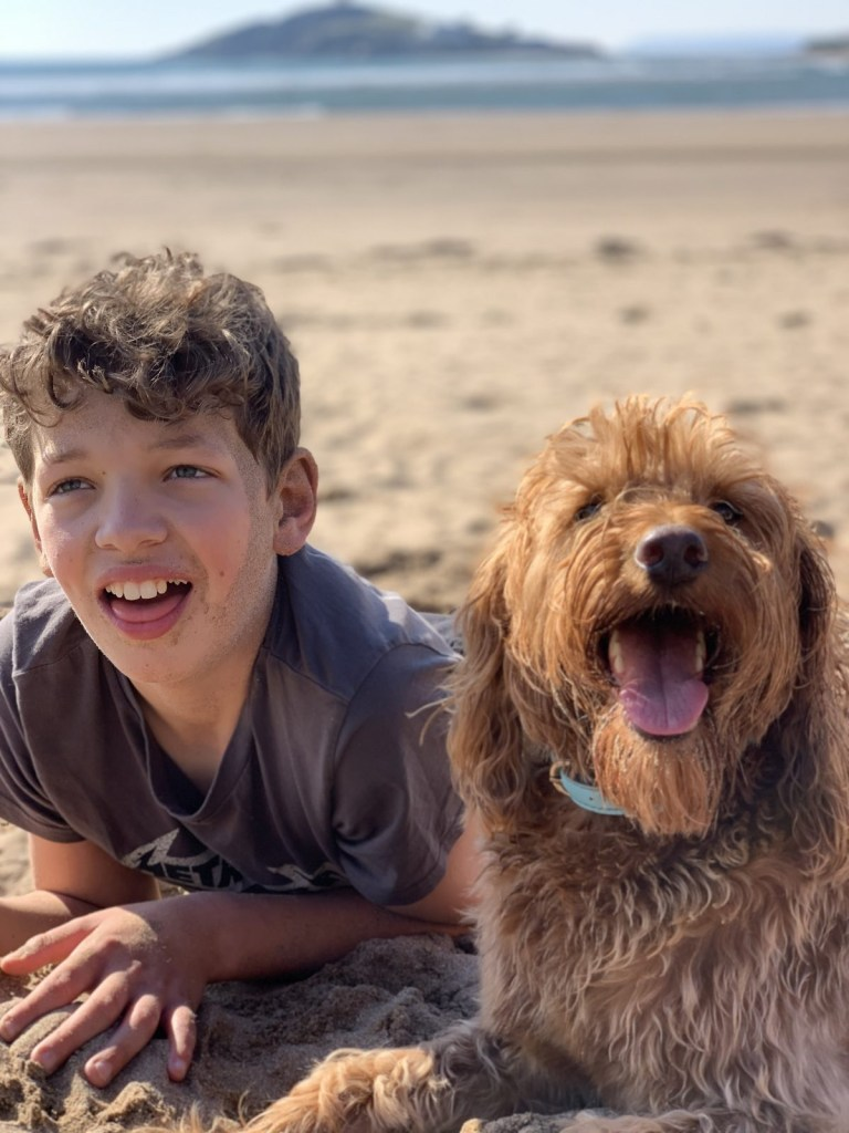 Henry and dog