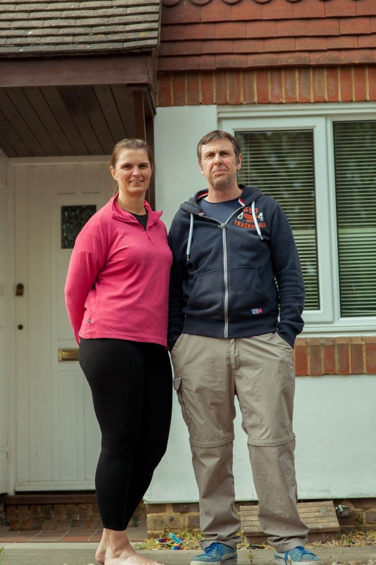 Fran Nelson's doorstep portraits: Mike and Nicola