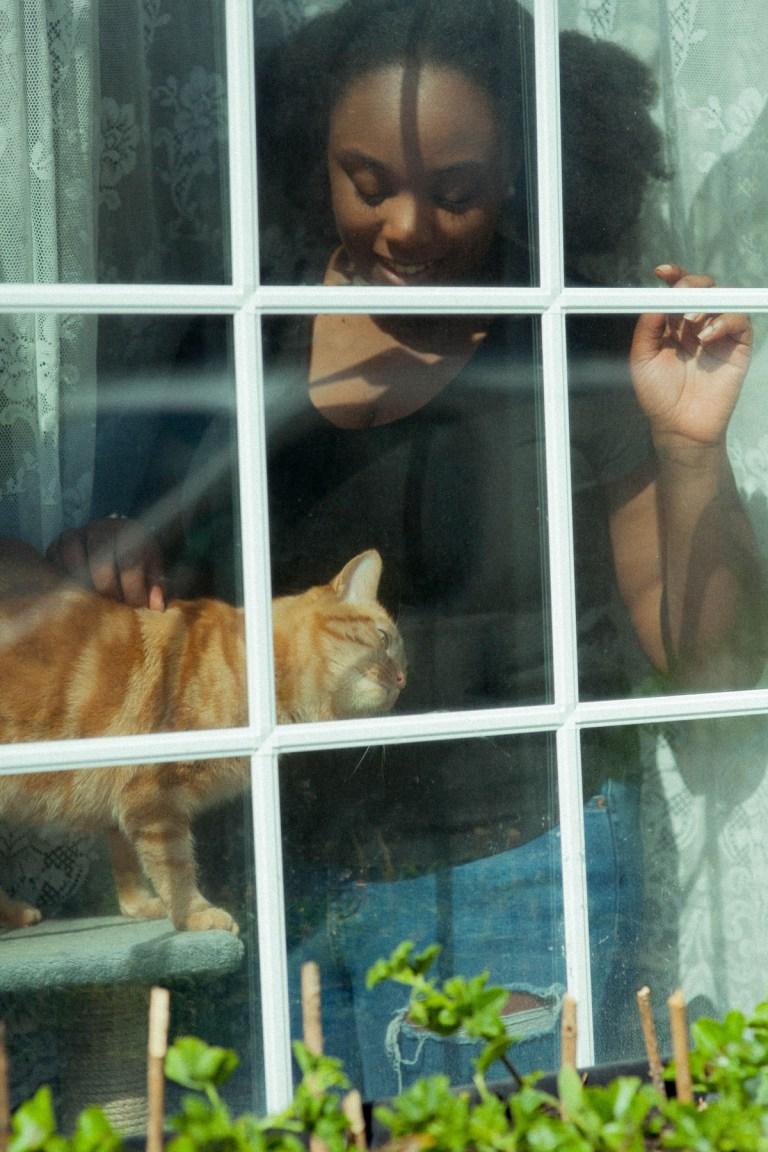 Fran Nelson's doorstep portraits:Rebecca and Alani