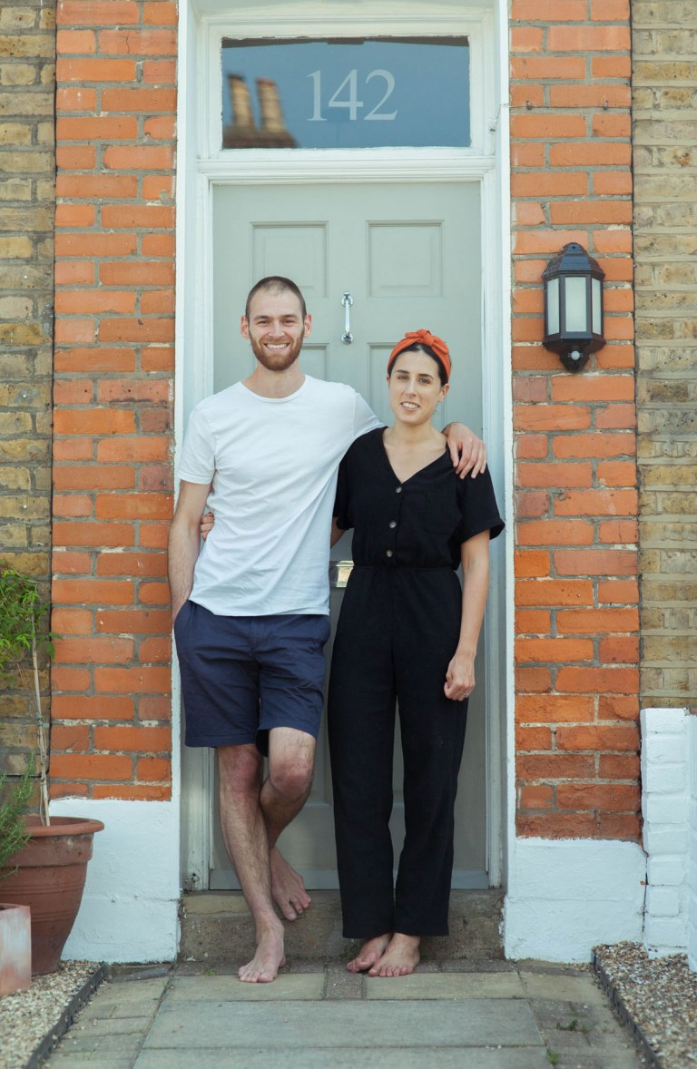 Portrait of the front door of Fran Nelson: Jack and Clare