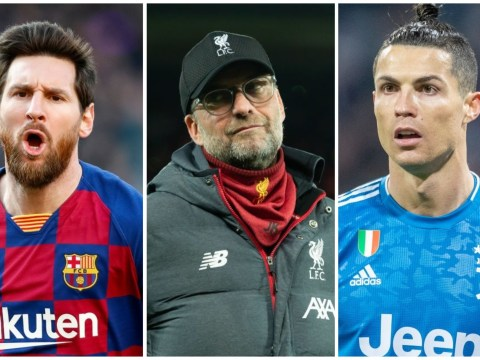 Liverpool manager Jurgen Klopp picks Lionel Messi and Cristiano Ronaldo as world's best player