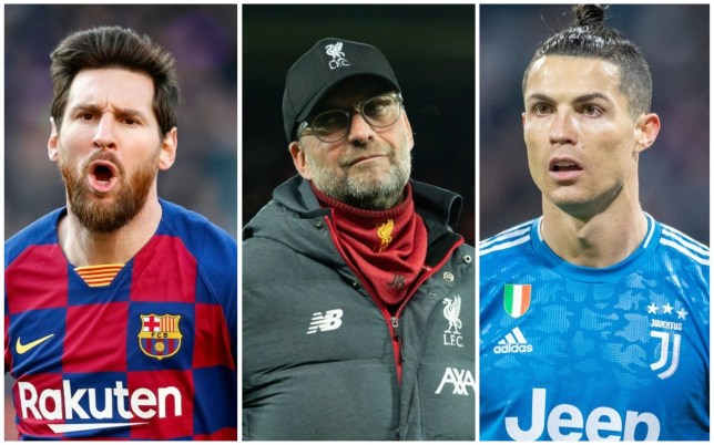 Jurgen Klopp has picked Lionel Messi ahead of Cristiano Ronaldo as the world's best player