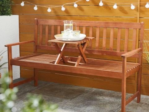 Aldi sells £70 bench with in-built hidden table and it's perfect for garden picnics