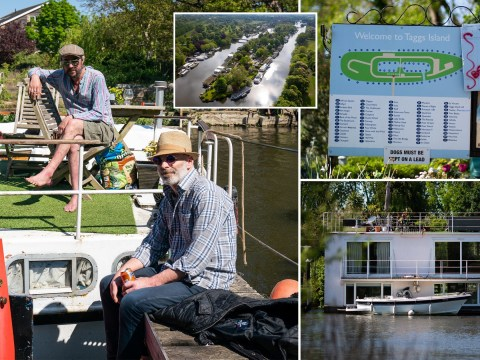 Tiny island on River Thames is a corona-free oasis for the lucky few