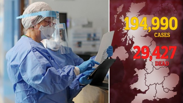 The UK has the highest death toll from coronavirus in Europe (Picture: PA)